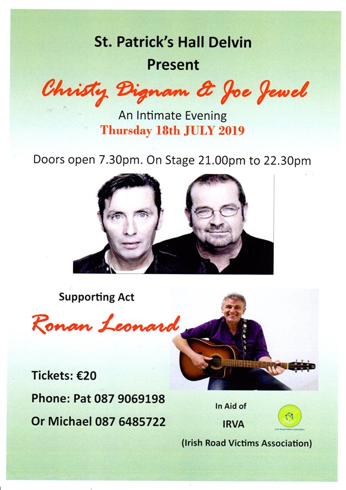 Christy Dignam & Joe Jewel (Aslan) Live @ St Patrick's Hall
